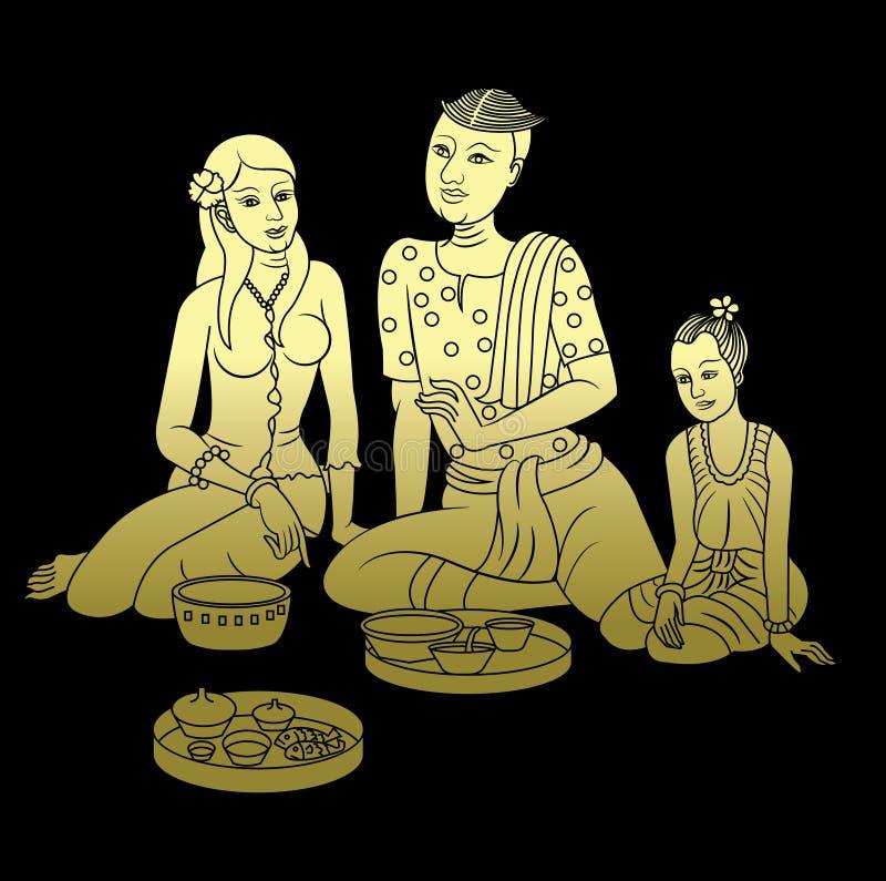 Lai тайские 0001 BG иллюстрация вектора
