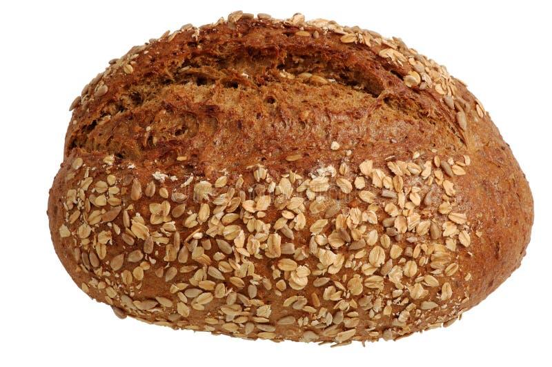Laib des Brotes getrennt auf Weiß stockbild