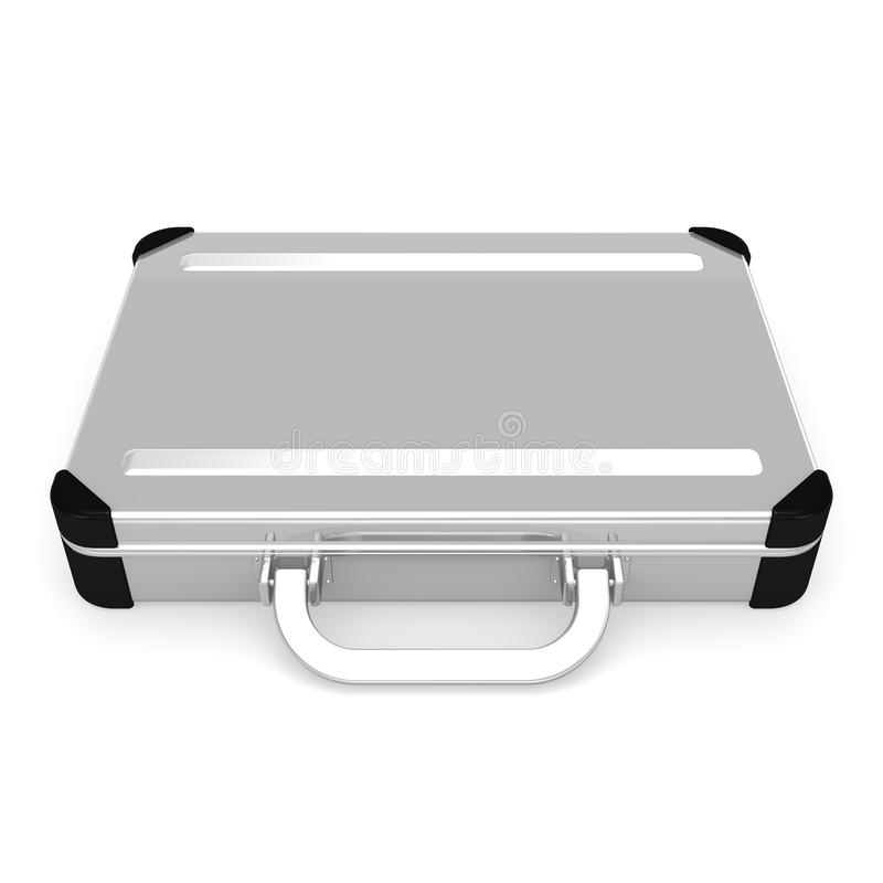 Laid Aluminum Attache Case Front View Royalty Free Stock Photo