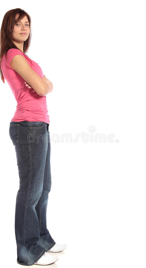 Download Laid-back young woman stock image. Image of young, friendly - 14449907