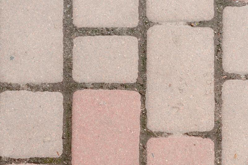 Laid out with red brick surfacse with copy space royalty free stock photos