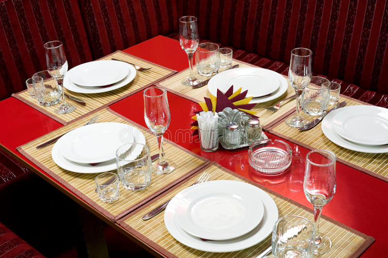 Download Laid restaurant table stock photo. Image of plate, nobody - 17993126