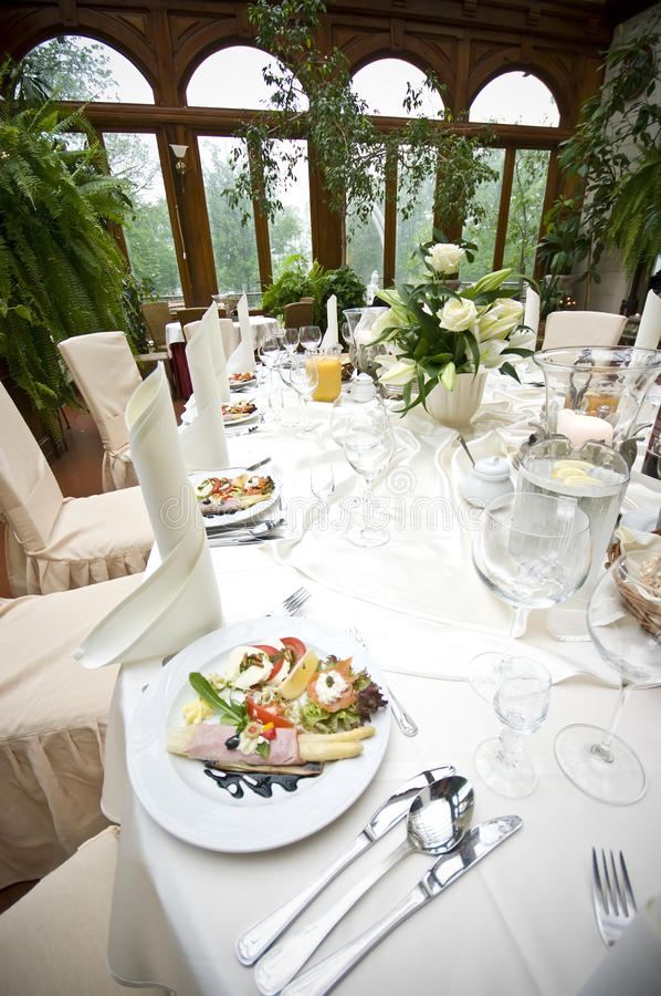Download Laid Wedding Reception Table Stock Image - Image: 9798251