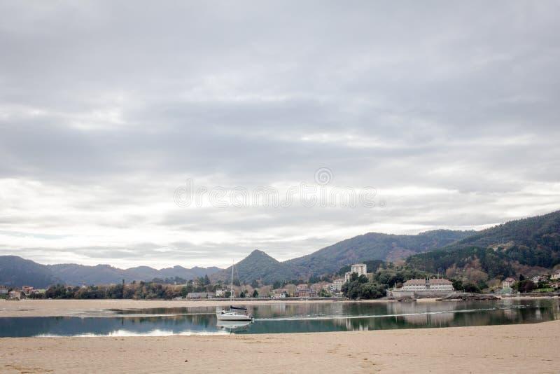 Laida海滩 西班牙 免版税库存照片