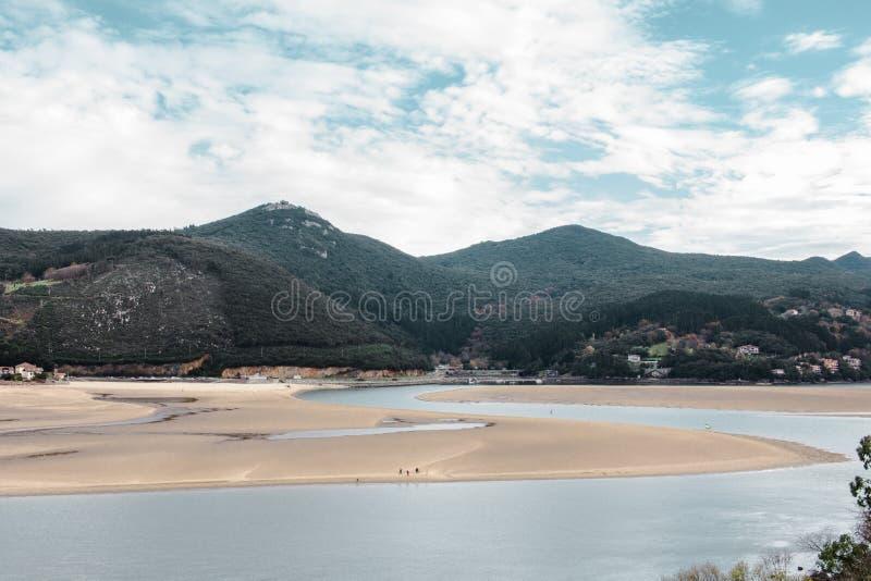 Laida海滩 西班牙 库存照片
