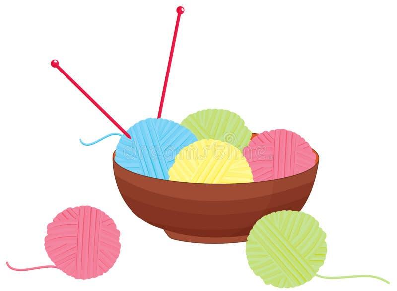 laines de tricotage illustration de vecteur