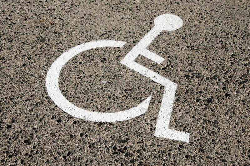 Laiss handicapée de stationnement photographie stock libre de droits