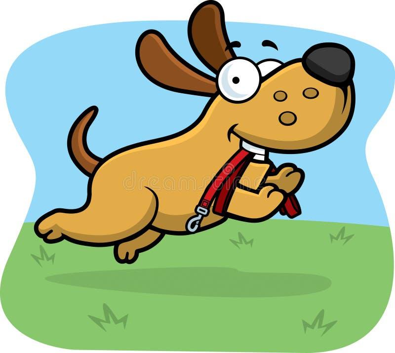Laisse de chien de bande dessinée illustration libre de droits