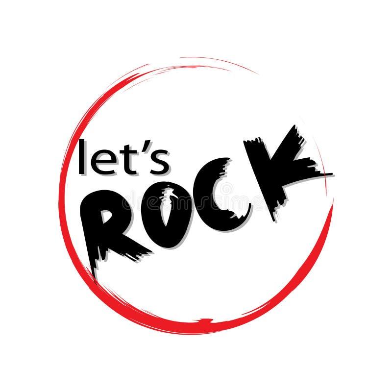 Laisse la roche illustration libre de droits