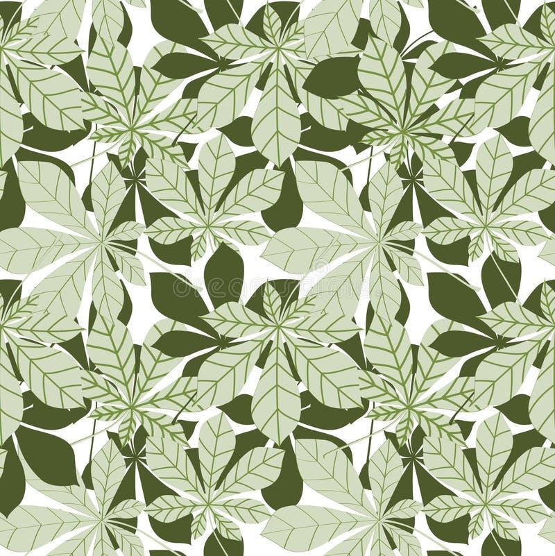 Laisse patern sans couture Papier peint de nature de ressort dans le rétro japanse illustration stock