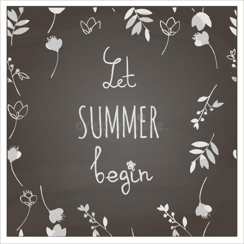 Laissez l'été commencer photographie stock