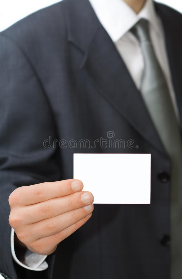 Laissez-moi te donner ma carte image stock
