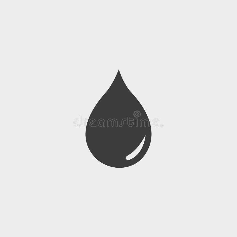 Laissez tomber l'icône dans une conception plate dans la couleur noire Illustration EPS10 de vecteur illustration de vecteur