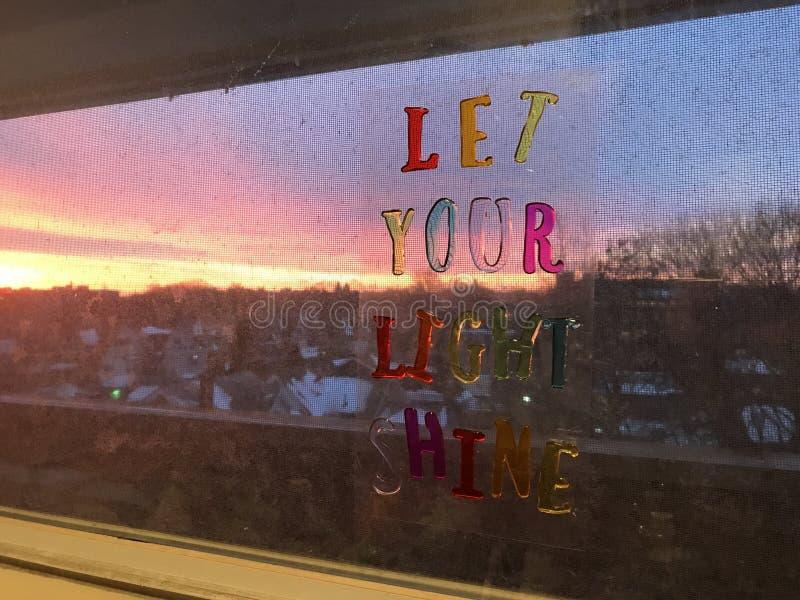 Laissez votre éclat léger photo libre de droits