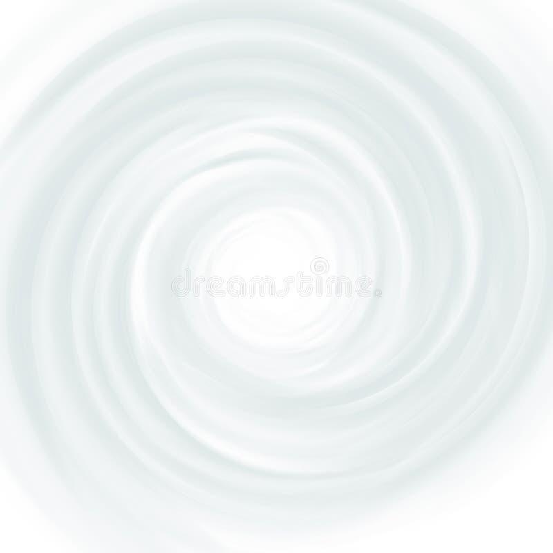 Lait blanc, yaourt, illustration de crème de remous de produit de cosmétiques Tourbillon de mousse et fond de vortex illustration stock