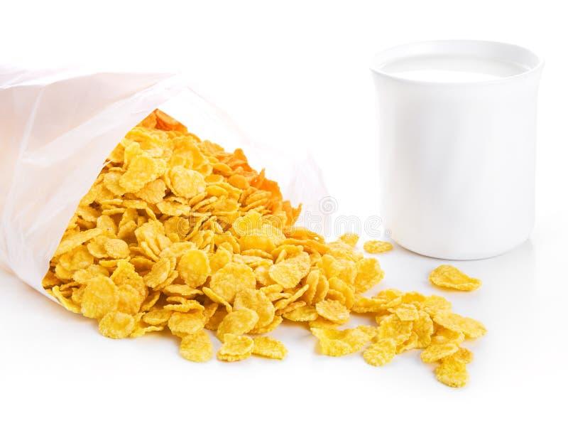 lait d'éclailles de cuvette de maïs images libres de droits