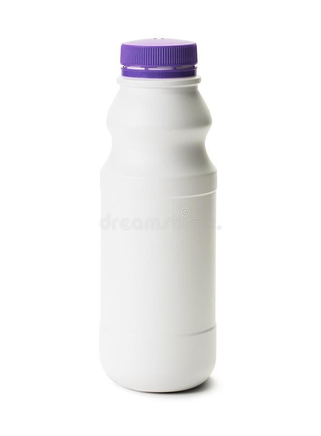 lait d'isolement par bouteille photo stock