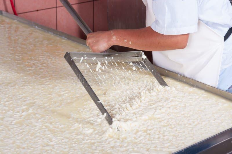 Lait en mouvement de fermentation image libre de droits
