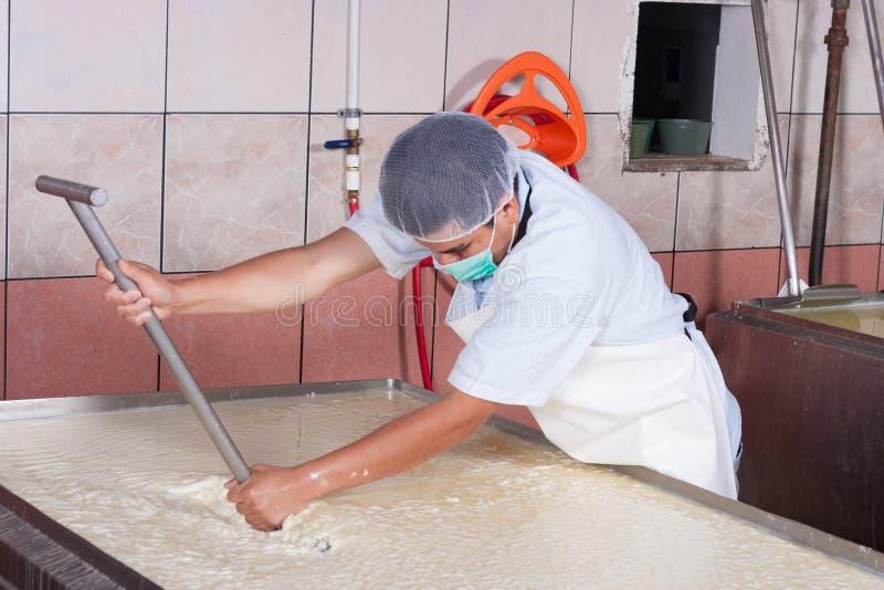 Lait en mouvement de fermentation photographie stock