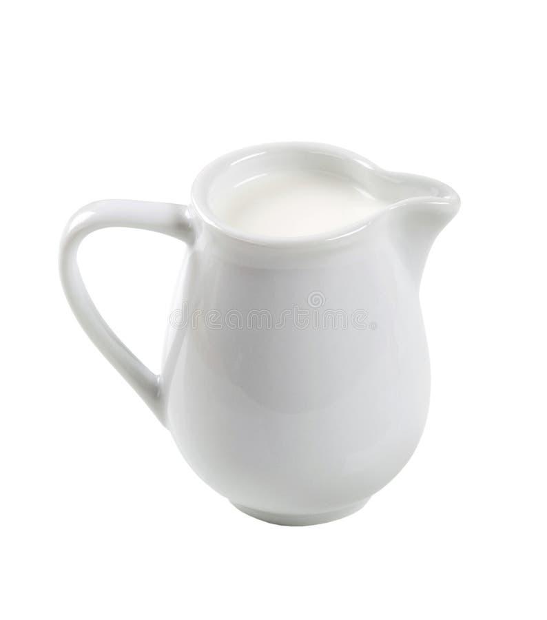 lait frais de cruche photo stock