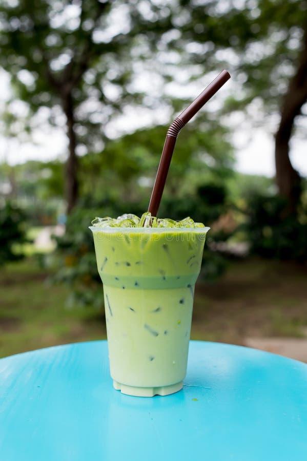 Lait glacé de thé vert photo stock