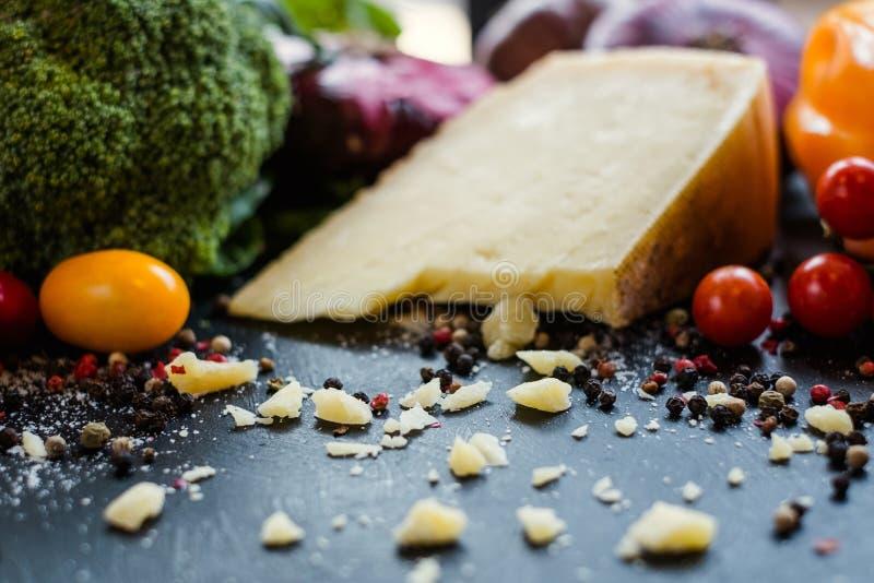 Laiterie d'aliment biologique de fromage faisant cuire la cuisine italienne photographie stock