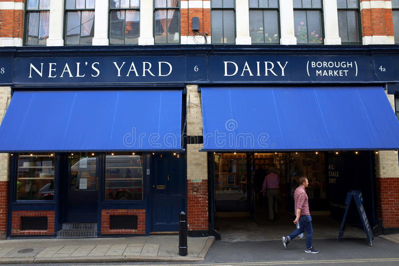 Laiterie du yard de Neal à Londres photo stock