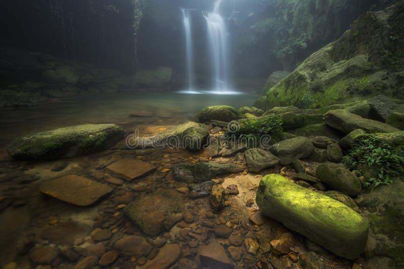 Laitmawsiangwaterval dichtbij Cherrapunjee stock foto