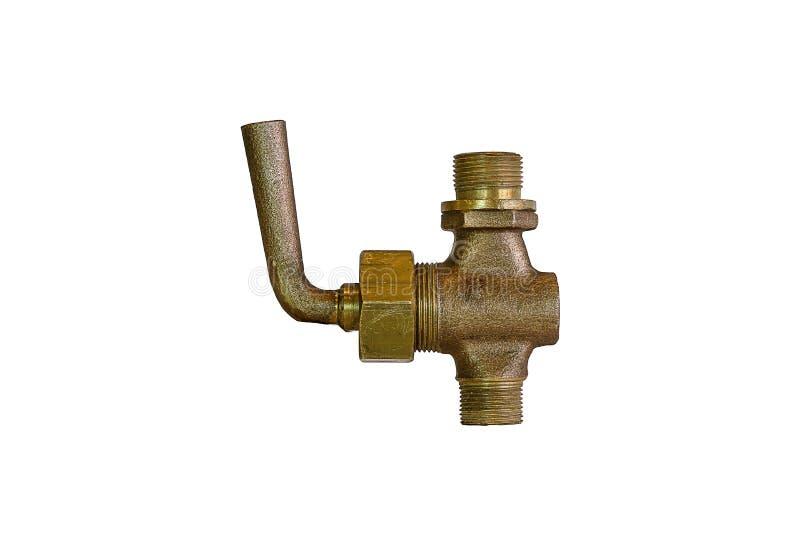 Laiton droit de valve de The Globe images stock