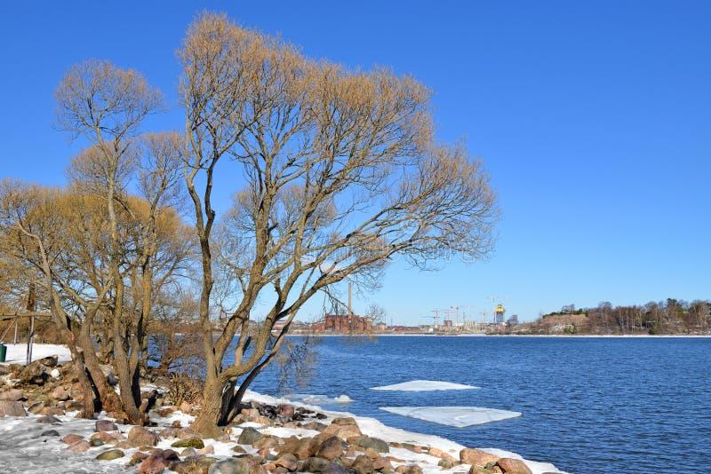 Laivastopuisto Fleet Park in Katajanokka in sunny day. Helsinki, Finland.  royalty free stock image