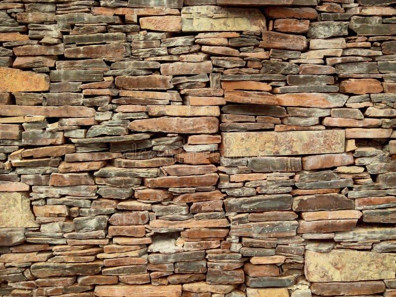 Laja kamiennej ściany tło fotografia royalty free