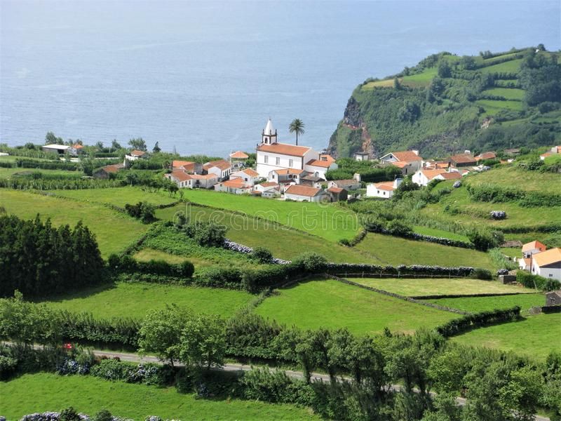Lajes das Flores, Flores ö, Azoresna fotografering för bildbyråer