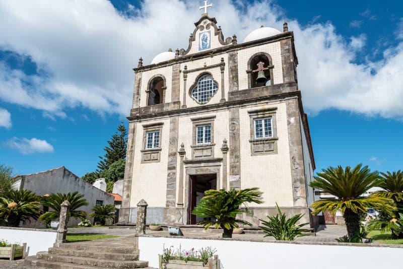 Lajes das Flores på ön av Flores i Azoresna, Portugal royaltyfria bilder