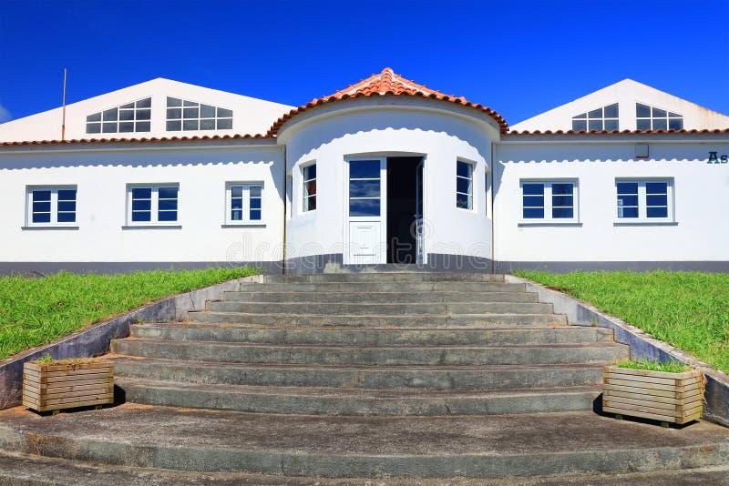 Lajes semesterort på den Flores ön, Azores arkivfoto