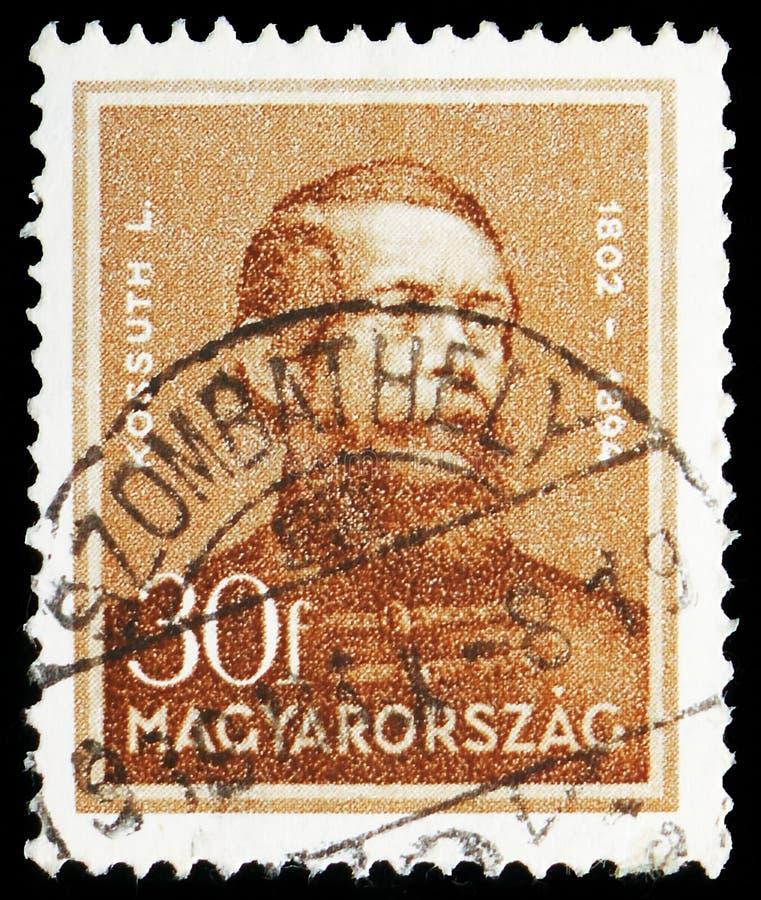 Lajos Kossuth 1802-1894 polityk, osobowości seria około 1932, fotografia royalty free