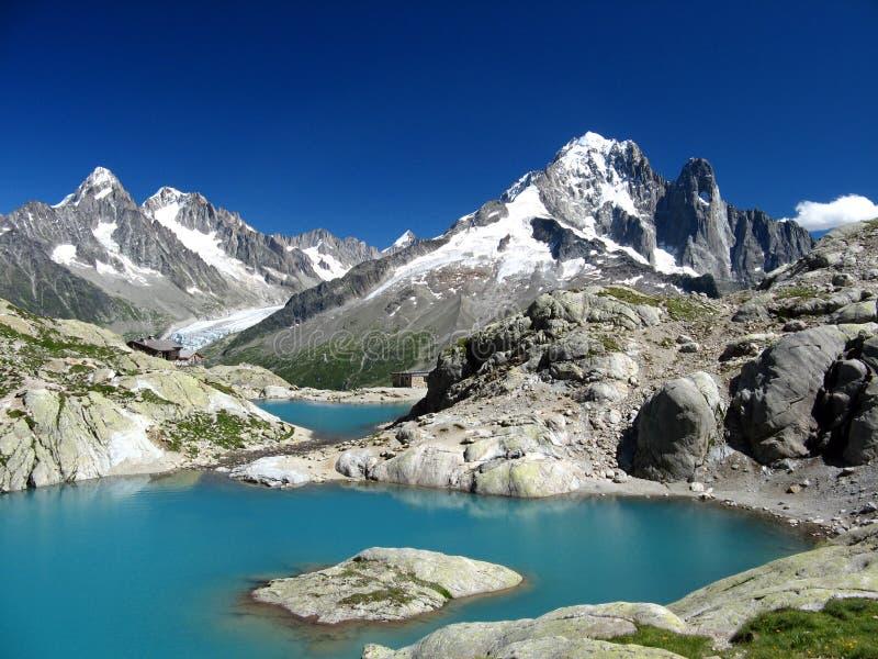 Lak Blanc, Chamonix, Frankrijk stock afbeelding