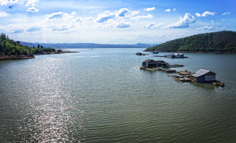 Lak jezioro, Daklak, Wietnam obrazy royalty free
