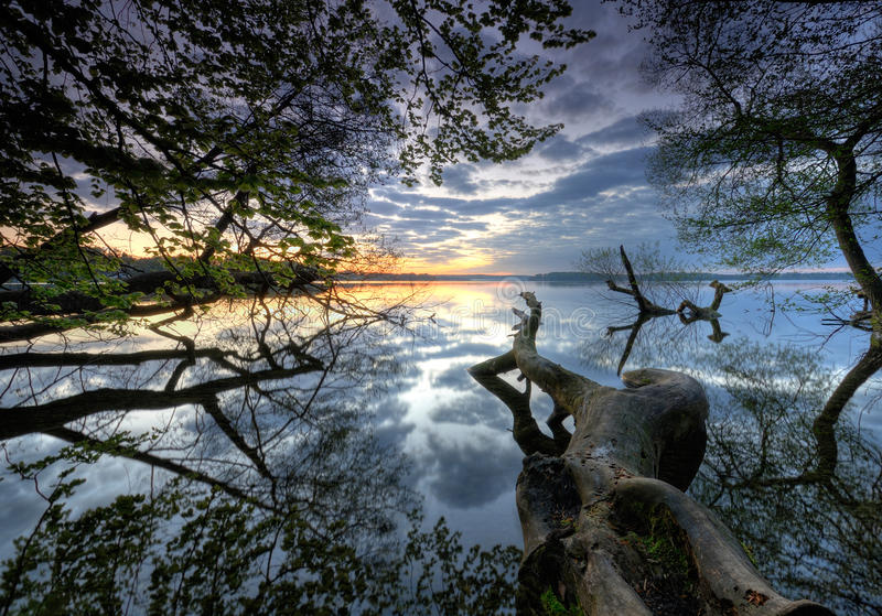 Download Lake stock image. Image of quiet, cloud, waterfront, scenic - 14266793