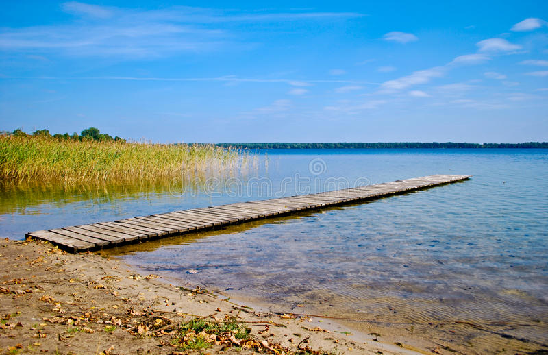 Download Lake stock photo. Image of holiday, relax, canes, bank - 14855416