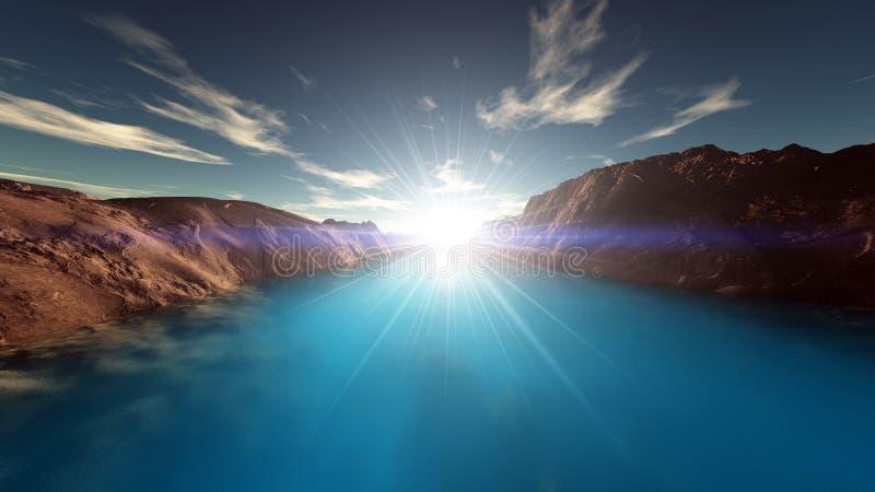 Download Lake stock illustration. Illustration of natural, surface - 22870695