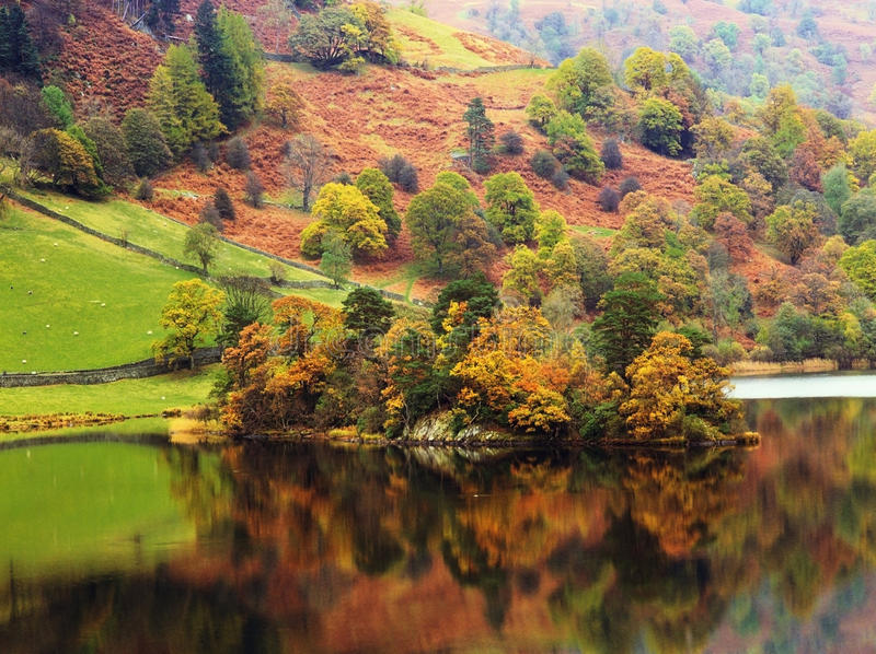 Download Lake stock photo. Image of green, cumbria, country, landscape - 23208612