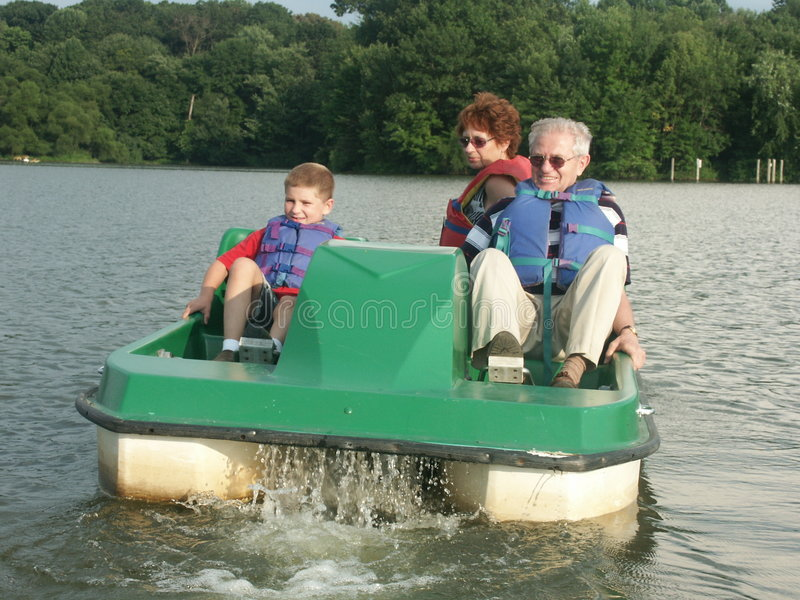 Download On the lake stock image. Image of adult, family, rafting - 2322973