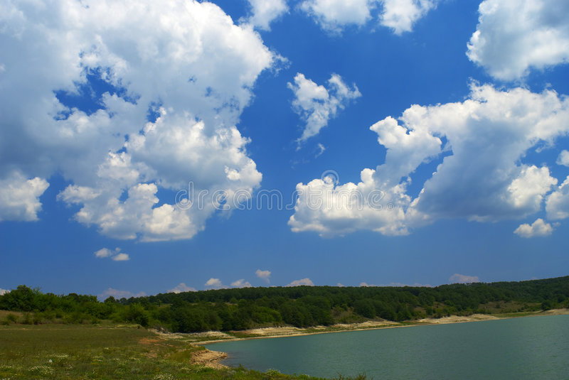 Download Lake stock photo. Image of clouds, landscape, summer, urban - 2597650