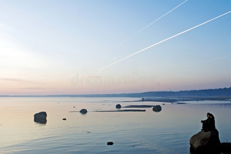 Lake royalty free stock photos