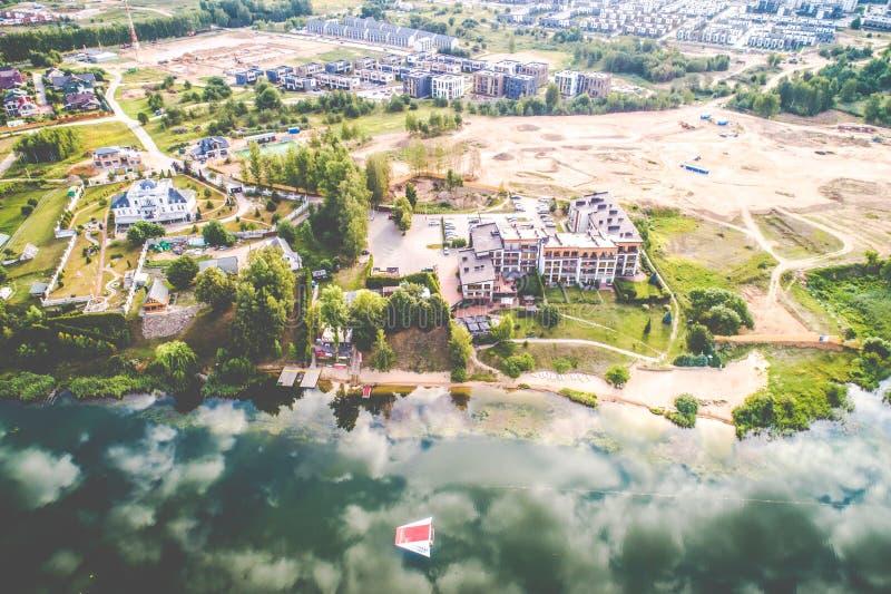 Lake aerial view royalty free stock image