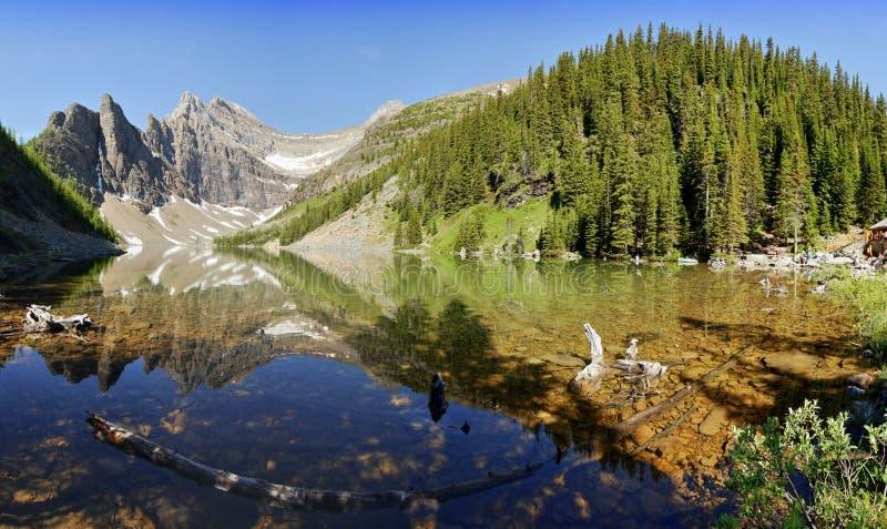 Download Lake Agnes stock image. Image of agnes, park, tree, alpine - 57121181
