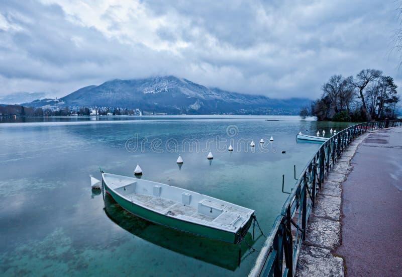 Lake Annecy, Frankrike arkivfoto