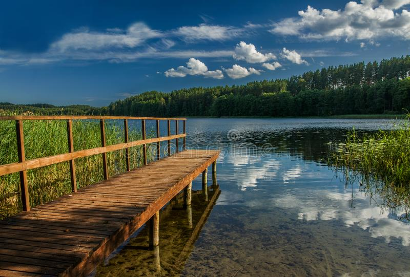 Lake area in Aukštaitijos national park, Lithuania royalty free stock photography