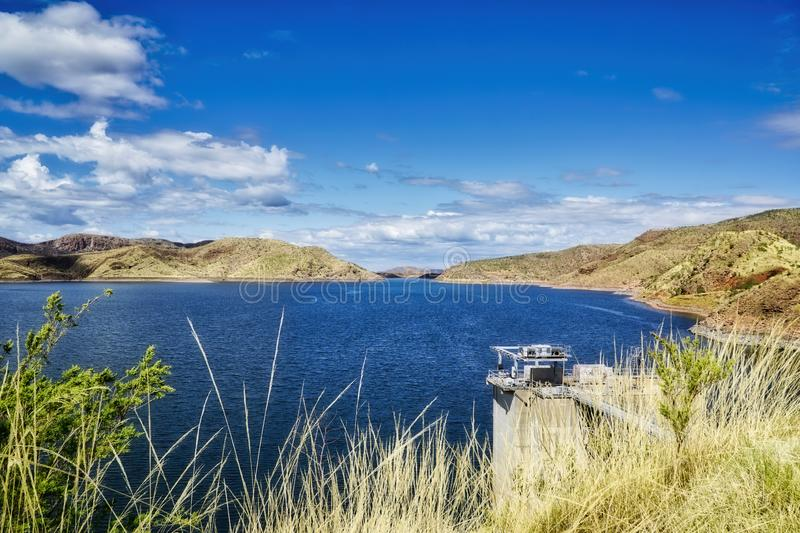 Lake Argyle is Western Australia is part of the Ord River Irrigation Scheme and is located near the East Kimberley town of. Kununurra stock photography