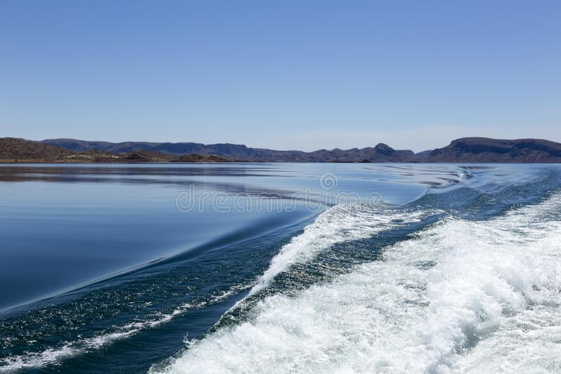 Lake Argyle is Western Australia`s largest and Australia`s second largest reservoir by volume. part of the Ord River Irrigation. Scheme near the East Kimberley royalty free stock image
